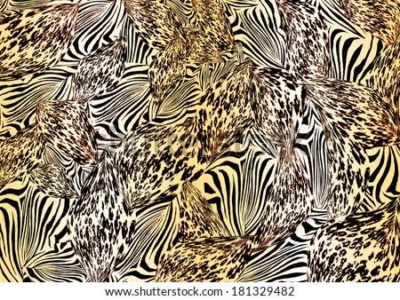 Mixed animal print & Mixed Animal Print Stock Illustration 181329482 - Shutterstock