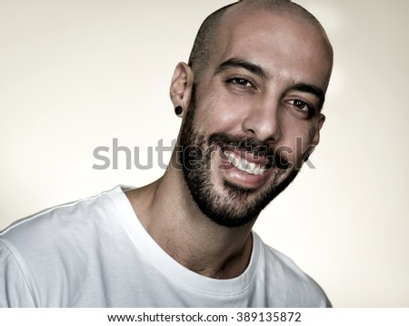 mixed arab man portrait