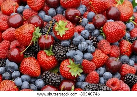 Mixed Berries - stock photo