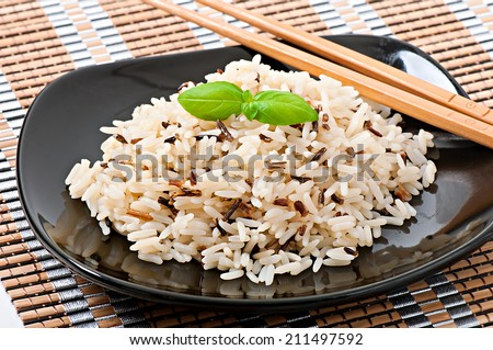 Mixed boiled rice - stock photo