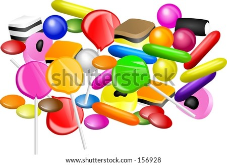 mixed candy - stock photo