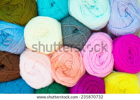 mixed color of yarn ball