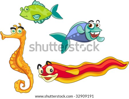 mixed fishes (vector illustration available in portfolio)