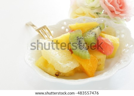 mixed fruit for healthy dessert image