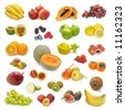 mixed fruits collection 2 - stock photo