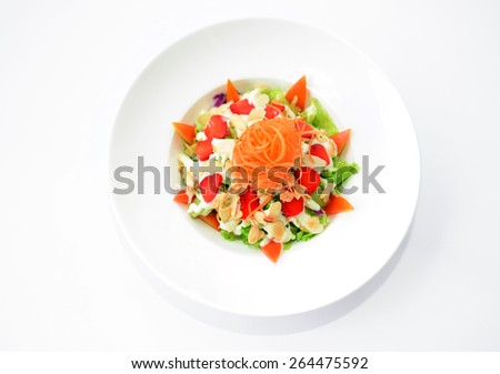 Mixed fruits salad - stock photo