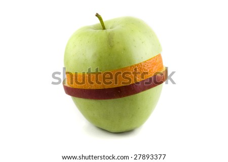 Mixed green apple - stock photo