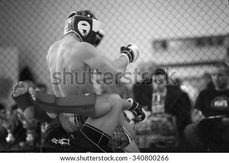 Mixed martial arts combat - stock photo