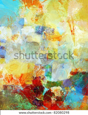 mixed media - hand painted background - stock photo