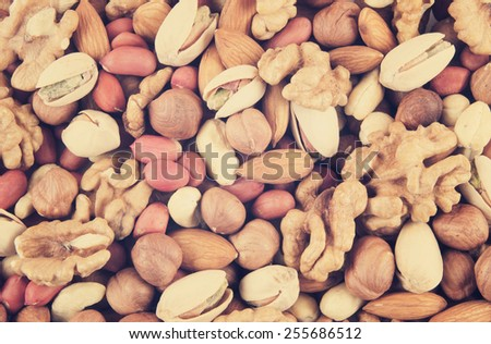 Mixed nuts - stock photo