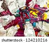 mixed old oil paint background - stock photo
