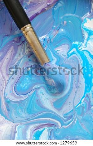 mixed paints #1 - stock photo