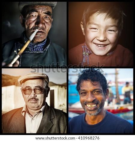 Mixed Race Ethnicity Descent Concept - stock photo