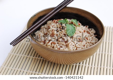 Mixed rice in a bowl - stock photo