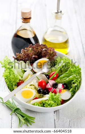mixed salad - stock photo