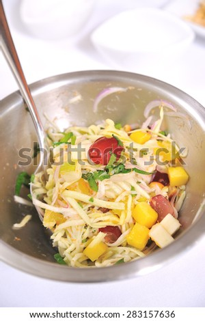 mixed spicy salad - stock photo