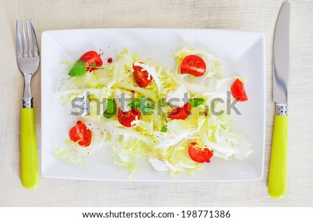 Mixed vegatable salad - stock photo