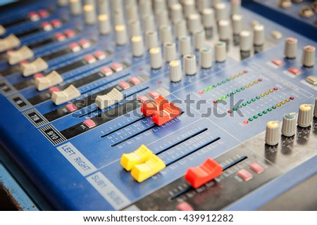 Mixer/Focus selection