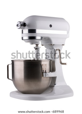 Mixer isolated on white with clipping path. - stock photo