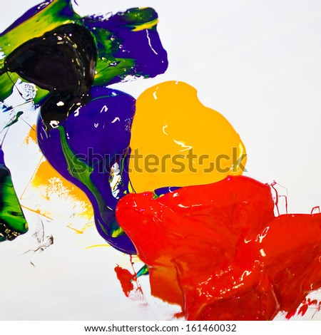 Mixing Offset Inks - stock photo