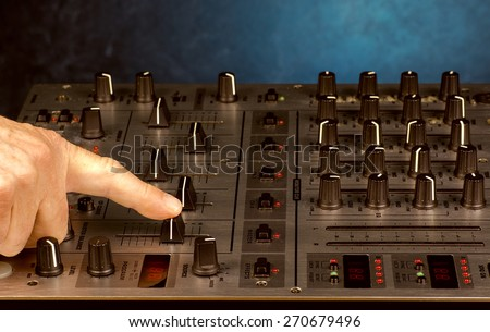 Mixing the sound of music - stock photo