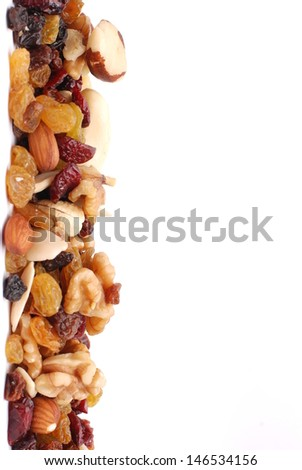 mixture of nuts,dry fruits - stock photo