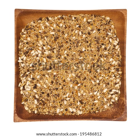 Mixture of seeds for canary - stock photo