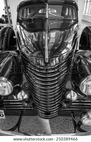 MLADA BOLESLAV, CZECH REPUBLIC -JUNI 21, 2014: Skoda Auto Museum in Mlada Boleslav. Automobile museum presents the history of the company Skoda Auto and it is predecessor Laurin & Klement - stock photo