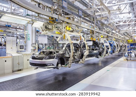 MLADA BOLESLAV, CZECH REPUBLIC - MAY 30: Skoda Auto celebrates 120 years since its establishemnt by Open Doors Day on May 30, 2015 in Mlada Boleslav - stock photo