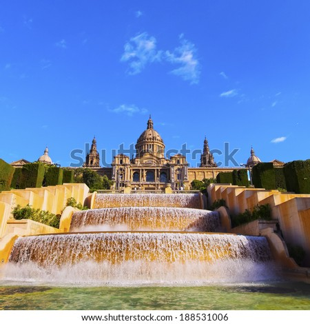 MNAC - National Museum of Art in Barcelona, Catalonia, Spain - stock photo
