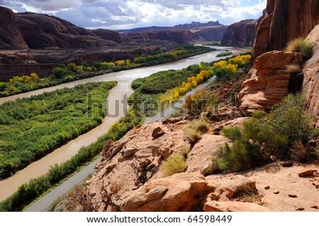 Moab Portal View - stock photo