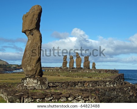 Moai in Easter Island