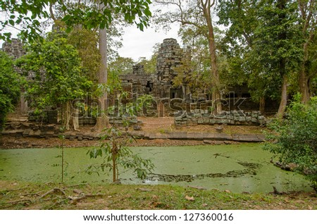 Moat in Banteay Kdei Temple, Angkor, Cambodia