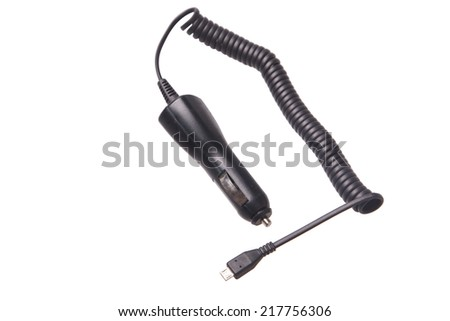 Mobile charger for car transportation - stock photo