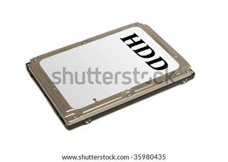 mobile hard drive isolated - stock photo