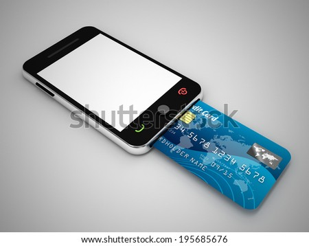 mobile internet payment  - stock photo