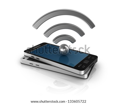 Mobile network concept - stock photo