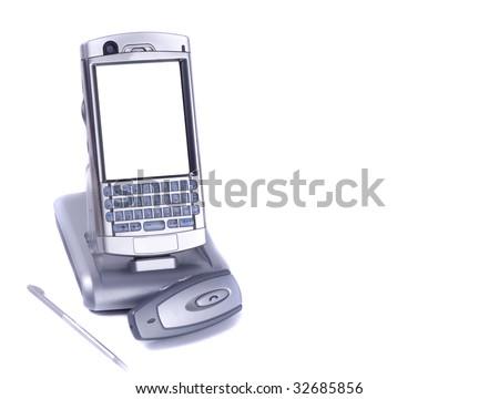 mobile on white - stock photo
