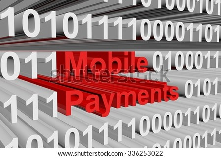 mobile payments are presented in the form of binary code
