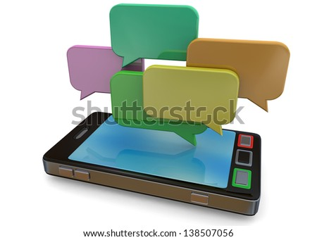 MOBILE PHONE AND CHAT- 3D