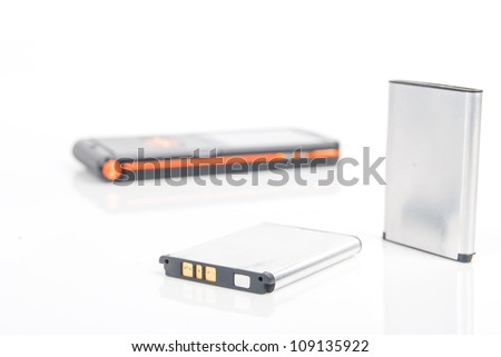 Mobile phone battery - stock photo