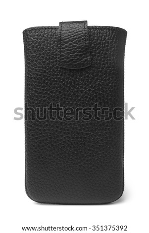 Mobile phone case on white background