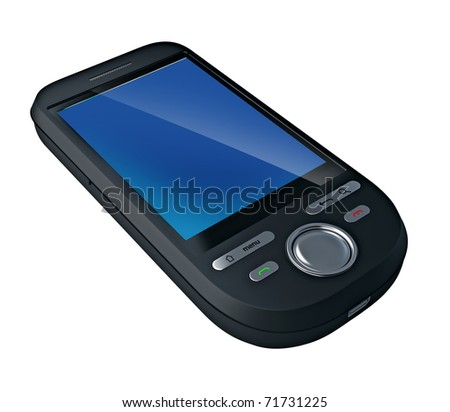 Mobile phone. Clipping path included - stock photo
