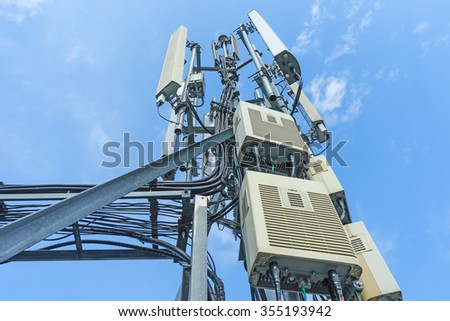 mobile phone communication repeater antenna. Mobile phone network antenna.
