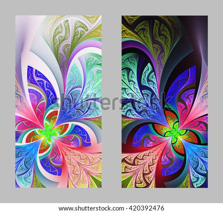 Mobile phone cover back with beautiful Pattern in fractal design.  - stock photo