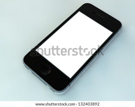 Mobile phone 3d - stock photo