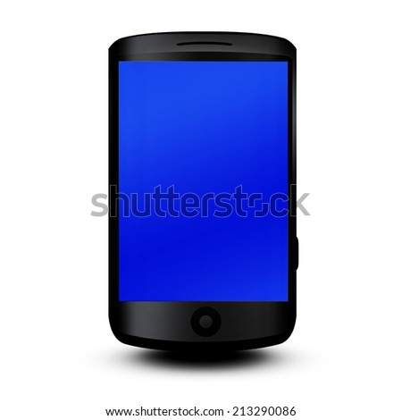 Mobile phone 3d  Isolated on a white background - stock photo