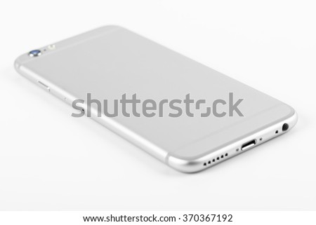 Mobile Phone Mockup On White Background - stock photo