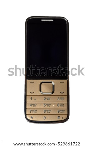 mobile phone on a white background