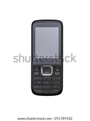 Mobile phone on white isolate with clipping path.